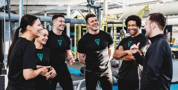 students on personal training course