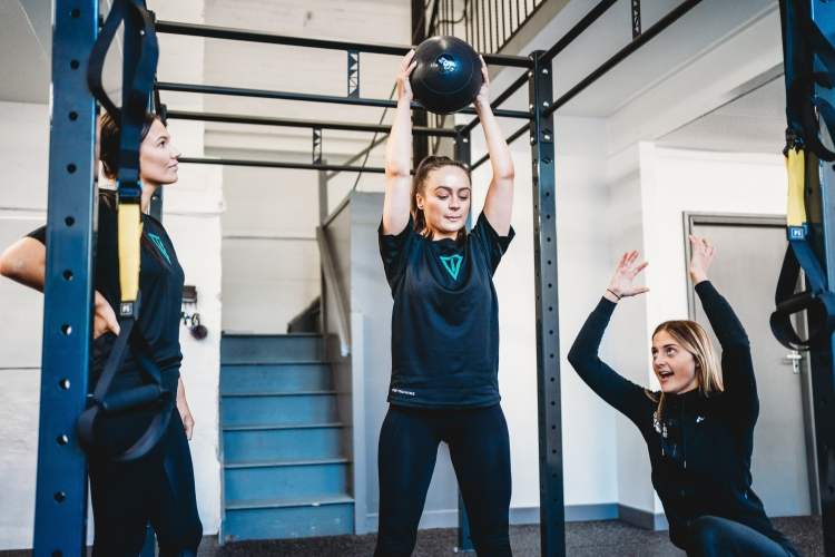 women on personal training course